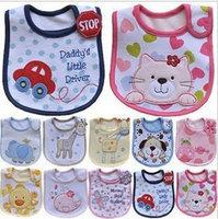 Three new cotton waterproof baby bib baby bibs rice pocket free shipping