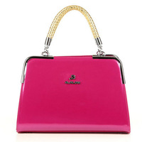 New 2013 handbags shoulder bag bright Patent japanned leather bag women's handbag fashion star bag