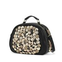 Free Shipping New Women's Handbag Girl's Vintage Shoulder bag Fashion Cheap Button Decoration Totes