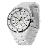 SINOBI New Fashion Men's Stainless Steel Wrist Watch Quartz White WTH0040