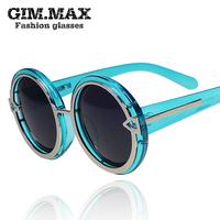 Circle crystal transparent sun glasses 2013 star style big frame sunglasses