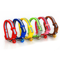 Pet reflective tape bell the cat dog collar buckle collars pet 1.0 1.5cm