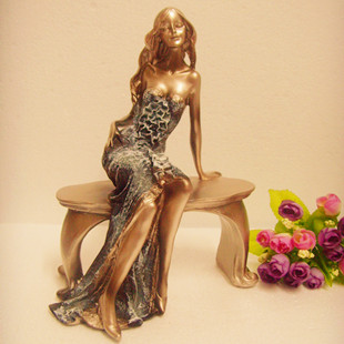 Modern fashion resin figure sculpture beauty sexy home decoration accessories(China (Mainland))