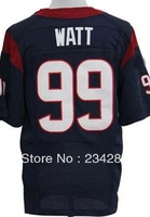 cheap wholesale american football Jersey men #99 J.J. Watt Blue White Red Elite Jersey,Embroidery name and number,size:40-60