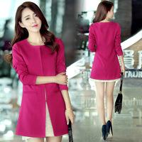 Women's clothing 2014 Spring/Autumn new Korean women windbreaker jacket and long sections Slim Women XL
