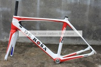 "2014 new Italian DEROSA ""838"" carbon fiber road bike frame White and red /pinarello dogma65.1/TIME/GIANT"