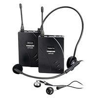 Hot Takstar uhf-938 single pair of wireless guide amplifier walkie talkie wireless earphones system transmition and receiver