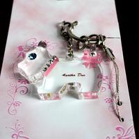 Wholesale Cheap Economic Schnauzer dog keychain mobile phone chain car women's key ring key chain key ring