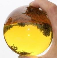 Asian Rare Natural Quartz Yellow Magic Crystal Healing Ball Sphere 80mm