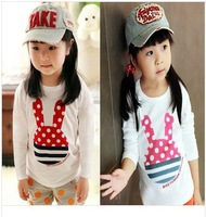 Wholesale 1 lot = 5 pieces Korean children 2014 New Spring models casual long-sleeved shirt children  clothing  BASIC STYLE