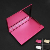 Cosmetic mirror The mirror cardcase Fashion women Creative metal card case  stationery iron box