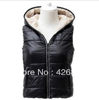 Vest female fashion with a hood cotton vest Women autumn and winter vest cotton vest female
