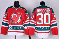 Free Shipping 2013 Winter Classic Ice Hockey Jerseys Cheap Men's New Jersey Devils #30 Martin Brodeur Red Jersey,Embroidery Logo