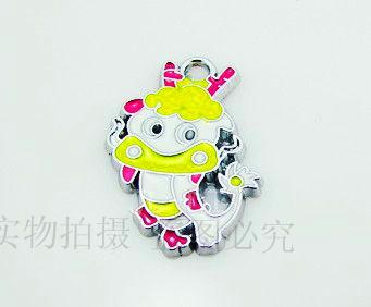 El0167 enamel noble dragon pendant metal charm keychain  100pcs/lots enamel alloy charm