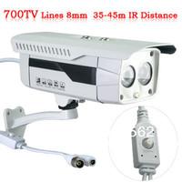 Free Shipping1/3 Inch SONY Ex-view HAD II CCD 700TVL 8mm Lens Day  OSD Menu High Line Array IR LED  Night Weatherproof IR Camera