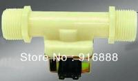 "1""npt 2Way plastic valve Solenoid Valve Water valve 12V Normally Closed,30 pcs a lot free shipping"