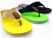 2014 Hot Sale Men's Casual Flip Flops Summer Soft Breathable Flat Sandals Gradient Color Beach Slippers Shoes for Men