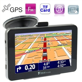 480 x 272 Pixels AQ500 5.0 inch TFT Touch Screen Car GPS Navigator,4GB Memory and Map,Voice Broadcast,FM Transmitter and TF Card