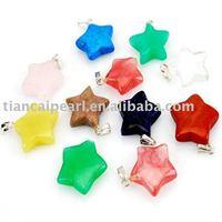 100pcs/Lot Free Shipping!!Star Fashion Pendant-Nature Stone Pendant