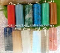 100pcs/Lot Free Shipping!!26X8MM Fashion Pendant-Nature Stone Pendant