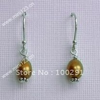 wow!!! free shipping!  amazing charming freshwater pearl earring.
