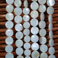 Free shippping!!!! 10mm natural whiter color shell pearl strand 16inch Long  fit necklace beads