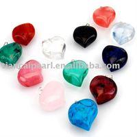 100pcs/Lot Free Shipping!!18mm Heart Fashion Pendant-Nature Stone Pendant
