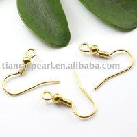 16*10mm Iron  plating white glod Eearring Wire ,Eearring Hook ,Ear Wire ,Ear Hook