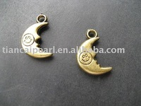 Copper Pendant & Charm DIY Accessories smile moon