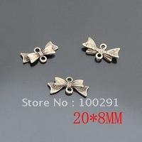 tc0002Free shipping!!200pcs/lot bronze color  bowknot pendant accessories to restore ancient ways 20*8mm