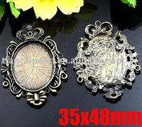 35x48mm Antique Brass Bronze Pendant Base Blank Jewelry Findings Jewelry Accessories Nickel Free!!