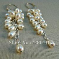 Free Shipping!!!10piece/lot 925 Sterling Silver Earring Hook Earrings Freshwater pearl Earings