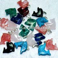 100pcs/Lot Free Shipping!!20mm Dolphin Fashion Pendant-Nature Stone Pendant