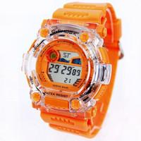 Free Shipping Children Digital Chronograph Watch Kids Multifunctional Electronic Waterproof 30m Sport Transparent Wristwatch Hot