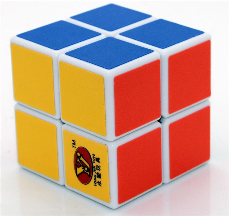Free shipping!!! Yj second order magic cube 2 magic cube 5cm scrub stickers boxed(China (Mainland))