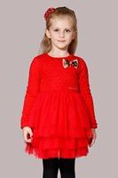 2013 Autumn & Winter Elegant Girls Clothing Fashion Long-Sleeved Institute  Princess Dress 3-10 Years Child Dot Bowknot Dress
