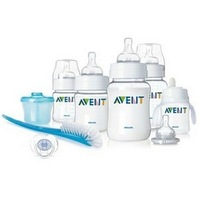 AVENT BPA Free Classic Infant Starter Gift Set Exclusive 9pcs/set New Born Baby Feeding Bottle Set,Baby Gift