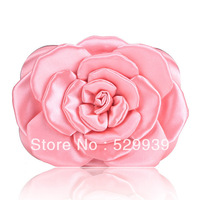 Free shipping,bride evening bag.lady portable hard case bag,wedding satin flower bag,many colors