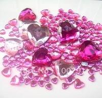 Free ship!!! 2500pcs 3.2mm-25mm mixed cell phone decoration kawaii heart Crystal Flat Back Rhinestone
