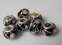 100 pcs  wholesale  mixed   fashion  lampwork glass beads  9*13mm size