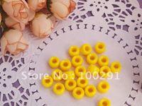 500pc yellow   9*6cmm Pony Beads  jewelry findings