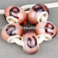 free shipping by DHL/EMS  e   big hole beads/ glass Beads with 925 Fit European thick Bracelet
