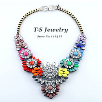 New Multi color Rhinestone Choker Necklace Party Elegant Super Stars Necklace Statement Necklaces For Women Free Shipping