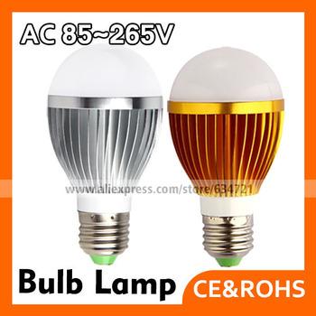 5pcs/lot  3W 5W 7W LED E27 LED Bulbs Energy Saving LED Light Bulbs White  Warm White Color AC85~265V