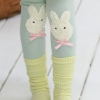 2013 children's autumn clothing female child rabbit wool velvet ankle length trousers child rabbit legging