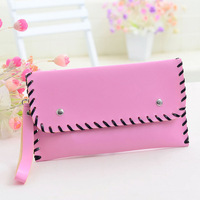Ol brief Women mobile phone women's day clutch bag candy color knitted clutch bag envelope bag coin purse