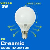3W LED BULB e14 base creamic body glass cover high quality free shipping