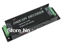 DC5-24V DMX SPI Decoder,support IC model  LPD6803,TM1803,TM1809,TM1812,UCS1903,WS2811,WS2801,TLS3001,TLS3008,P9813