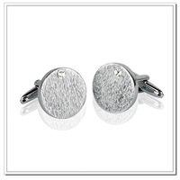 Gift steel trays cufflinks inlaying zircon male French cufflinks