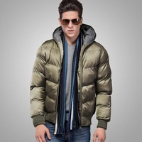 Free Shipping Men's black Waterproof parka Men's Coat for winter New Fashion 2013 Top quality M-XXXL